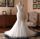 Sexy Mermaid Boho Wedding Dress 2020 Lace Beaded Backless Real Bride Bridal Gown