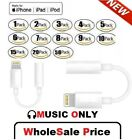 For iPhone Headphone Adapter Jack 8 Pin to 3.5mm Cord Dongle Lot