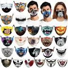 Adult Unisex Mouth Protective Pm2.5 Filter Halloween Pumpkin Washable Face Masks
