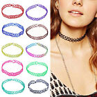 Womens Girls Choker Collar Necklace Colorful Stretch Elastic Fashion Jewelry
