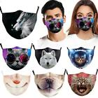 Washable Reusable Animal Print Facemask Face Mouth Mark Protective Adults Cotton