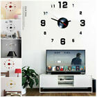 Modern Large Wall Clock 3D Mirror Sticker Unique Big Number Watch DIY Decor RG