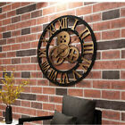 Gear Wall Clock Big size forliving room and meeting room gold colour