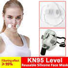 Transparent Masks Face Mouth Cover With Filters Masks Anti-droplets Us Reusable