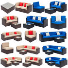 Patio Rattan Wicker Furniture Set Garden Sectional Couch Outdoor Sofa Table Us