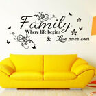 Home Wall Stickers Family Letter Quote Removable Vinyl Decal Room Decor #us