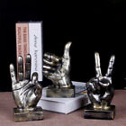 Vintage Silver Figurine Statue Thumbs/ok/yes Hand Sculpture Home Office Ornament