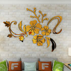 3d Mirror Flower Removable Wall Sticker Acrylic Mural Decal Home Decor Fashion
