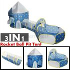 ❤ 3 in1 Kids Tent Crawling Toddlers Play Tent Playhouse Yard Tunnel Ball