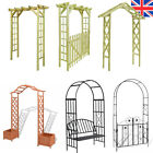 Garden Arch Wooden/Metal Pergola Feature Trellis Rose Climbing Support Archway
