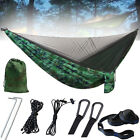 Double Camping Hammock with Mosquito Net Nylon Tent Hanging Bed Outdoor Travel