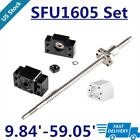 Ballscrew End machined SFU1605 250-1500mm with Nut Housing + BK/BF12 Support CNC