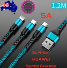 3 In1 Premium Super-charging 5a Cable Android Type-c & Micro-usb