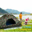 2-3 Person Instant Pop-Up Camping Tent Waterproof Camouflage Family Hiking US ~