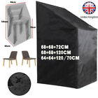 Waterproof Stacking Chair Cover Uv Outdoor Garden Patio Furniture Protection New