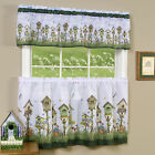3-Piece Window Kitchen Curtain Set, Printed Designs, Tier Pair Panels and