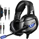 Gaming Headset LED Headphones with Microphone for PC SW Laptop PS4 Slim Xbox One