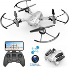 SNAPTAIN A10 Foldable Mini Drone with 720P HD Camera, WiFi FPV RC Quadcopter, 3D