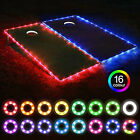2xLED Cornhole Game Set Edge Night Light Corn Hole Bean Bag Toss Board Neon Lamp