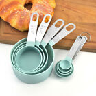 4Pcs Stainless Steel PP Measuring Cups Spoons Baking Flour Cooking Tools Set