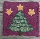 """Oh Christmas Tree""  Primitive Rug Hooking KIT WITH #8 CUT WOOL STRIPS"