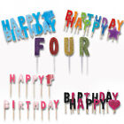 BIRTHDAY PICK CANDLES - Cake Decorations Party Ages Boy Girl Multi Coloured