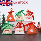10%2F50Pcs+Christmas+Triangle+Party+Paper+Favour+Candy+Sweets+Gift+Boxes+Ribbon