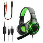 Gaming Headset For Xbox One PS4 Nintendo Switch PC Laptop Stereo Mic Headphones
