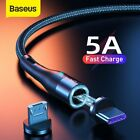 Baseus Magnetic 5A USB toType-C Micro-usb Fast Charger Cable Lead Data Cord