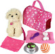 9 piece Doll Puppy Set & Accessories Dolls Toys Baby Dog Perfect For Girl Gift