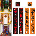Halloween Trick Or Treat Hanging Porch Sign Banner Front Door Party Decoration