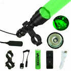 Green Red White LED Flashlight Predator Varmint Hunting Beam Light Scope Mount