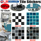30pc Kitchen Tile Stickers Bathroom Mosaic Sticker Self-adhesive Wall Home Decor