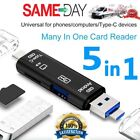 SD Card Reader Type C Android Phone Micro USB Reader OTG to USB 2.0 Adapter