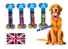 'Dog Collar - High Visibility Reflective 25-40cm Various Colours Blue Green Pink