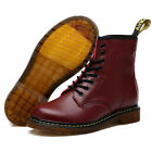 UK Womens Mens Martens Classic Airwair  DR 1460 Leather Ankle Boots Waterproof