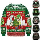 Novelty Christmas Sweatshirt Xmas Ugly Jumper Unisex Long Sleeve Pullover Tops