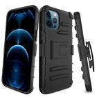 For iPhone 12 12 Pro Max/Mini/11 Shockproof Kickstand Belt Clip Phone Case Cover