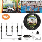 20/30FT Outdoor Patio Water Mister Mist Nozzle Misting Cooling System Fan Cooler