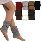 Women Winter Ankle Leg Warmers Crochet Knitted Boot Cuffs Toppers Socks Cover S