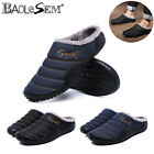 Men's Comfort Slippers Plush Lining Warm Slip on House Shoes Outdoor US Size