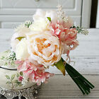 1 Bouquet Artificial Peony Rose Flower Wedding Party Home Hotel Cafe Decor Us