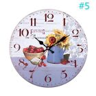 New retro pastoral style sunflower wall clock Lovely home living room decoration