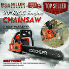 COOCHEER 62CC 20 Gas Chainsaw Handed Petrol Chain Woodcutting 2 Cycle 4HP B 121