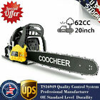 COOCHEER 62CC 20 Gas Chainsaw Handed Petrol Chain Woodcutting 2 Cycle 4HP B 143