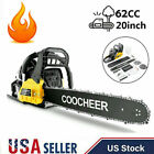 COOCHEER 62CC 20 Gas Chainsaw Handed Petrol Chain Woodcutting 2 Cycle 4HP B 147