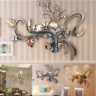 3d Mirror Floral Art Removable Wall Sticker Acrylic Mural Decal Home Decor