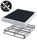 7.5 Metal Box Spring Bed Foldable For Space Saving King Queen Full Twin Size