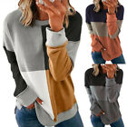 Women Casual Long Sleeve Sweatshirt T Shirt Blouse Loose Pullover Tunic Tops Tee