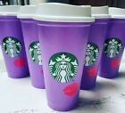 STARBUCKS ✨ 2021 VALENTINES DAY PURPLE COLOR CHANGING CUPS ✨ 2020 SPARKLE CUPS